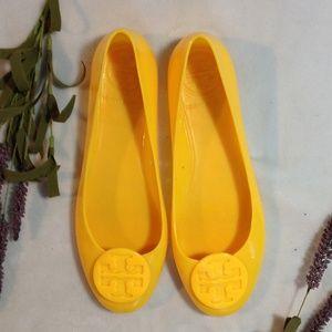 Tory Burch bright summer yellow jelly Revas sz 6.5